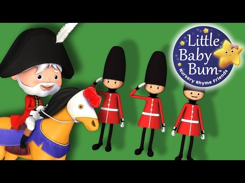 The Grand Old Duke Of York | Nursery Rhymes | by LittleBabyBum!