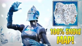 NEW FROZEN RED KNIGHT SKIN REVIEW! Fortnite Map Covered in snow! Fortnite New Skin Gameplay