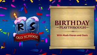 Birthday Event Playthrough 2020 - Old School RuneScape's 7th Birthday!