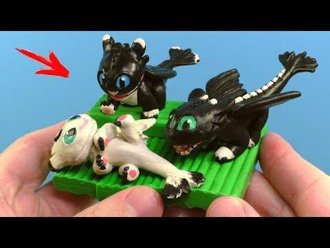 Как слепить дракона из пластилина видео