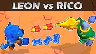 RICO vs LEON | 1vs1 | 19 Test | Brawl Stars