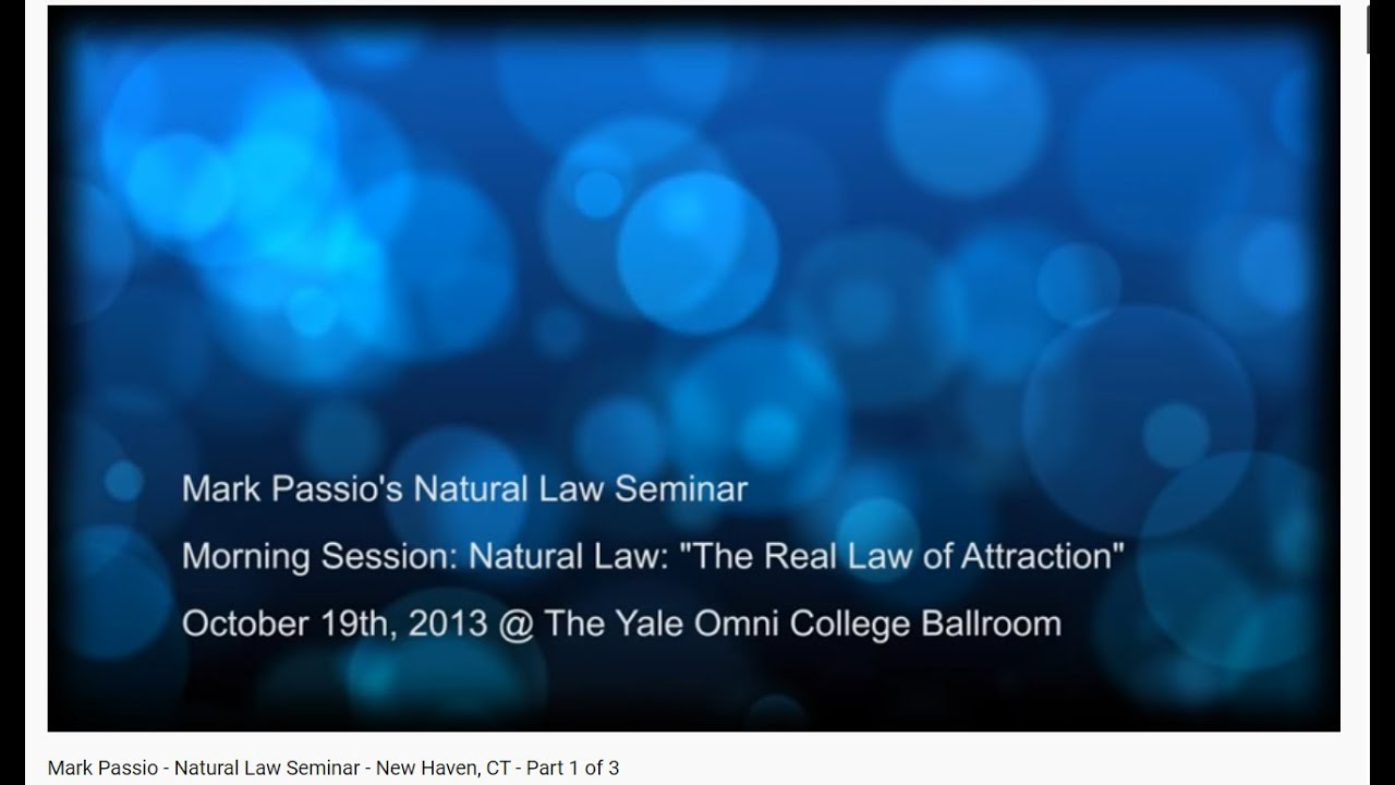 Mark Passio   Natural Law Seminar   New Haven, CT   Part 1 of 3
