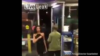 Crazy Man vs. Woman RESTAURANT FIGHT!!!!