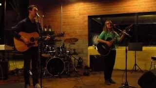Stephen Griffith and Cassidy McCurdy at Talebu CoffeeHouse's Open Mic