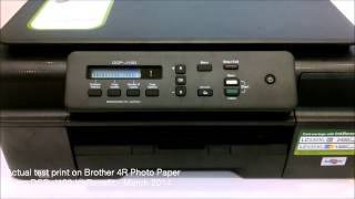 DCP-J100 Actual Print Demo