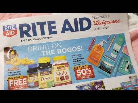 Rite Aid 8/19/18 preview couponing