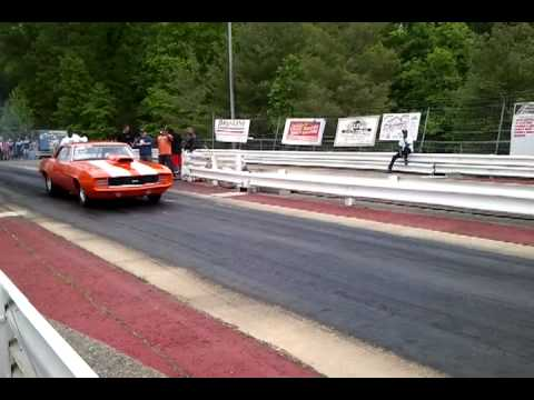 Natural Bridge Speedway - Orange Camaro SS Launch
