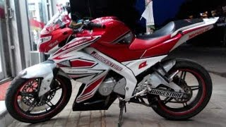 Motor Trend Modifikasi | Video Modifikasi Motor Yamaha New Vixion Lightning Striping Terbaru