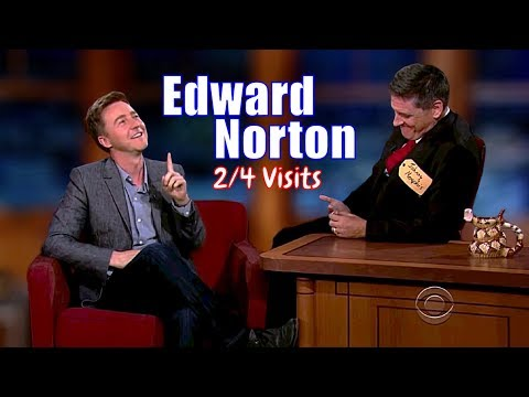 Edward Norton  A Really Sweet Guy  24 Visits In Chronological Order