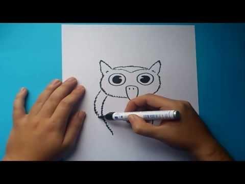 Como dibujar un buho paso a paso | How to draw a owl