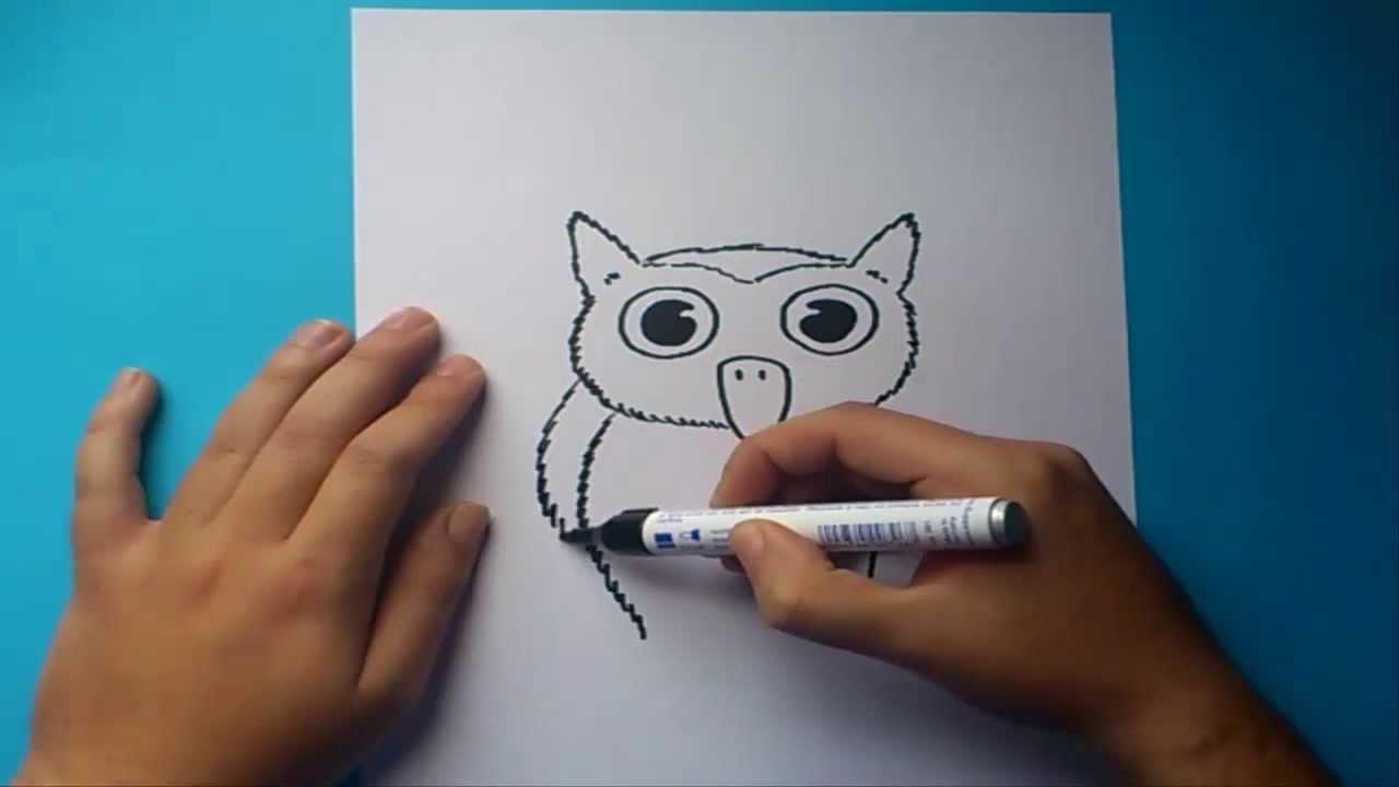 Como dibujar un buho paso a paso | How to draw a owl - YouTube