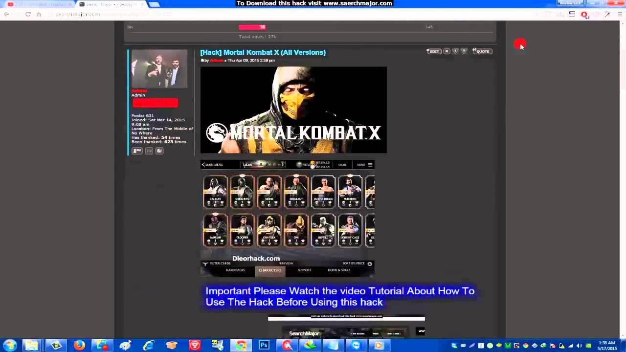 Mortal Kombat Hack v2 0 1 iOS Jailbroken | Mortal Kombat X Alliance