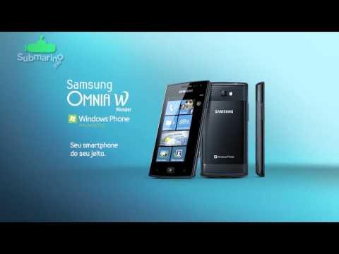 Samsung Omnia W Interface inovadora | Submarino.com.br