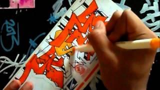 How to draw Risk Graffiti(Sticker Speedart #2)