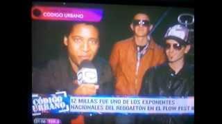 codigo urbano quiero musica tv entrevista a 12millas en el flow fest 3