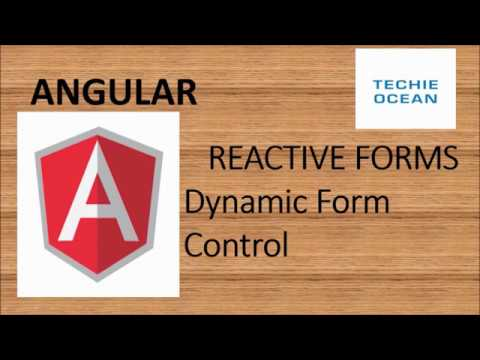 ANGULAR 8 : CREATE DYNAMIC CONTROLS IN REACTIVE FORMS thumbnail