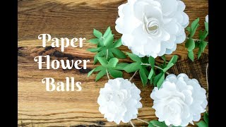 How to Make Paper Flower Balls - Paper Kissing Ball Craft