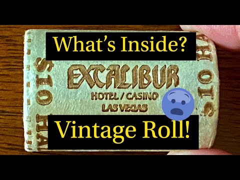 What's Inside This Vintage Casino Half Dollar Roll?