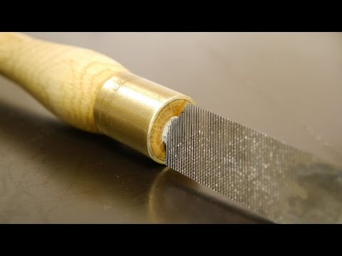 Making a spindle gouge from an old file