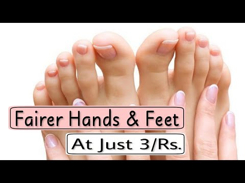 Get Fair Hands & Feet at just Rs 3/- At Home