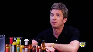 Noel. Gallagher interview with hot ones preview