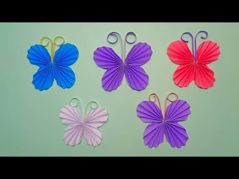 How to Make Paper Butterfly   DIY Easy Origami Paper Crafts Butterflies for Decorations