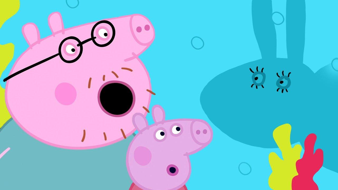 Peppa Pig Português Brasil 🐟 O AQUÁRIO 🐟  Peppa, George, Mamae e Papai   Desenhos Animados