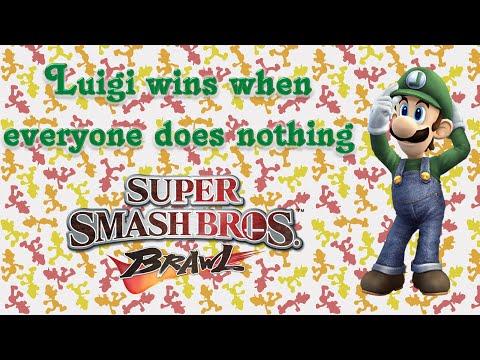 Super Smash Bros. Brawl - Luigi wins when everyone does nothing