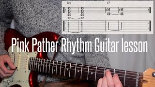 Learn the Pink Panther CHORDS with this Guitar Lesson & play along with tab/notation at end