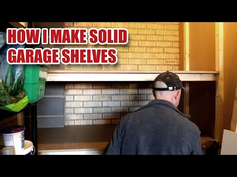 Making Heavy Duty Garage Shelves [29]