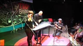 Musicians with glass: Glass Duo at TEDxBratislava