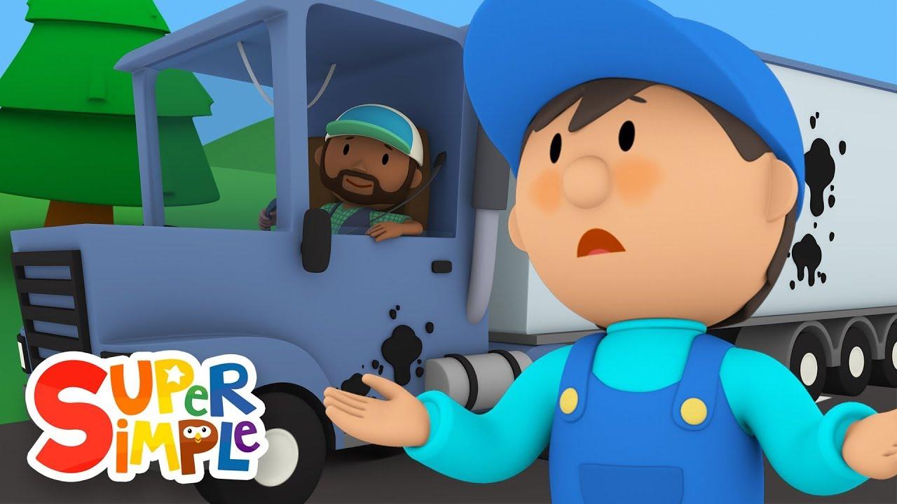 Bubbas Big Rig Needs A Good Scrub-A-Dub | Carls Car Wash | Cartoons for Kids