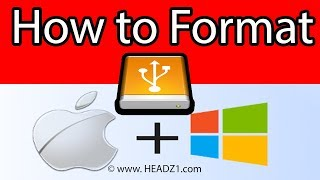 How to Format External Hard Drive for Windows | MAC MS Dos or ExFat Video