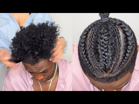 Quick Cornrow Hairstyle For Black Men On High Top Fade Ft