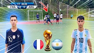 COPA DO MUNDO FRANÇA vs ARGENTINA JOGO 5 vs 5 DESAFIOS DE FUTEBOL 2020 Rikinho