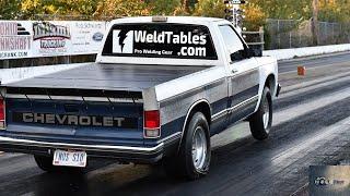 Twin Turbo S-10 VS. FAST STREET CARS on NO PREP.