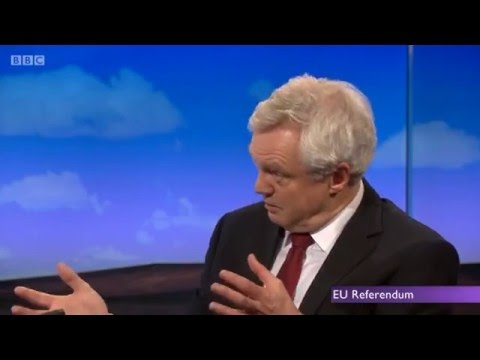David Davis makes the case for Brexit on the Daily Politics