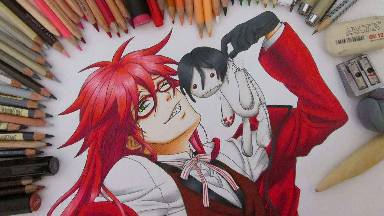 Speed Drawing Grell Sutcliff Black Butler Kuroshitsuji Youtube