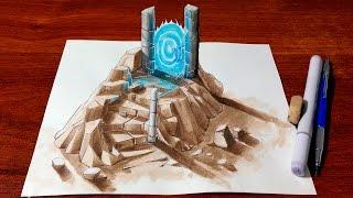 Drawing 3D Ruins - Portal
