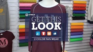 How to Get This Look: 2-Color CAD-CUT® Premium Plus™ Fan Wear