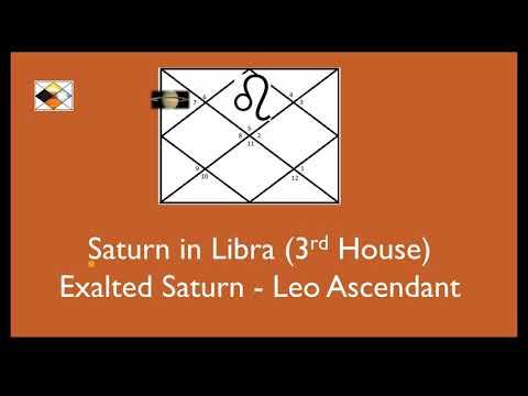 Saturn In Libra For Leo Ascendant (Saturn In 3nd House For Leo Asc - Exalted Saturn For Leo Asc)