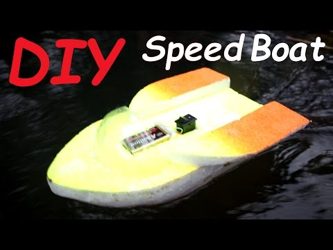 how to make an electric motor boat with thermocol /styrofoam #lifehack thumbnail