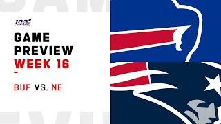 Buffalo Bills vs New England Patriots Week 16 NFL Game Preview