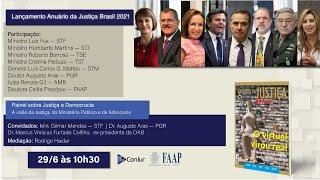 Lançamento Anuário da Justiça Brasil 2021