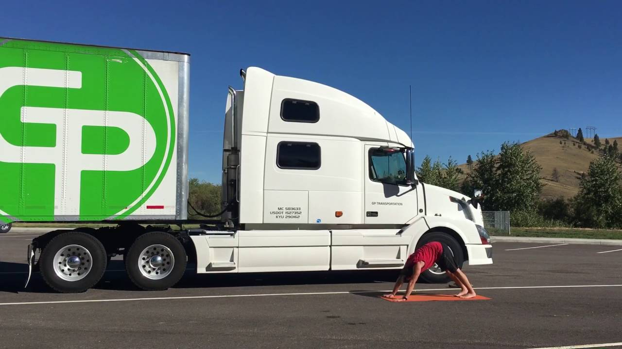 Trucker Doing Yoga Hell S Kitchen