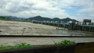 木曽川 犬山市 ライン大橋 豪雨による濁流