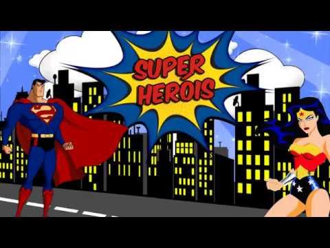 Convite Animado Mulher Maravilha E Super Man Youtube