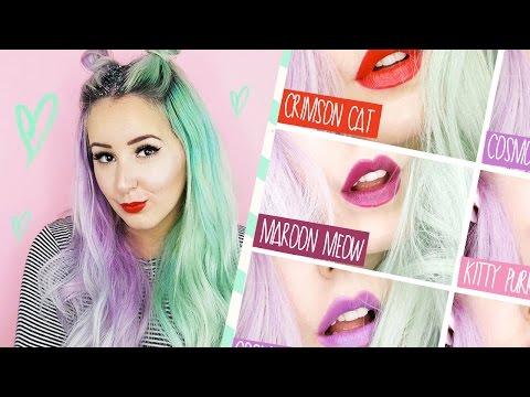 KATY KAT MATTE Covergirl  Lip Swatches! | by tashaleelyn