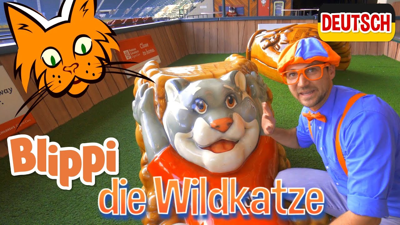Blippi Deutsch - Blippi im Baseballstadion   Abenteuer und Videos für Kinder