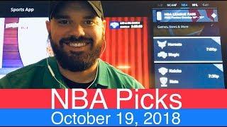 NBA Picks (10-19-18) | Basketball Sports Betting Expert Predictions | Vegas Odds | October 19, 2018